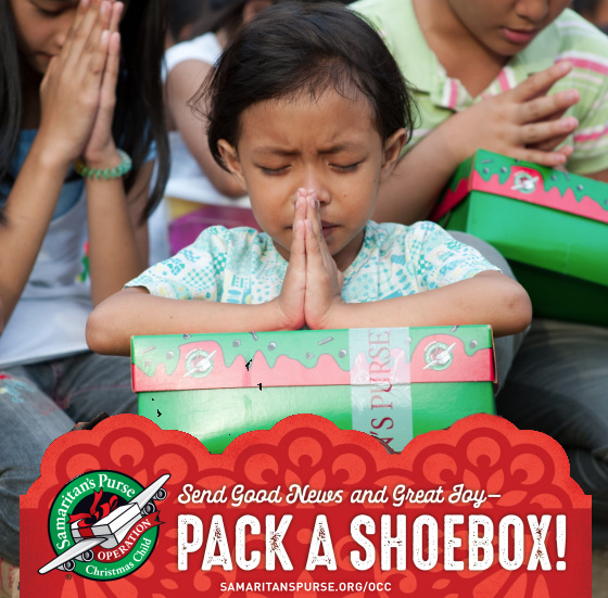 Christmas Child.Operation Christmas Child Shoebox Packing